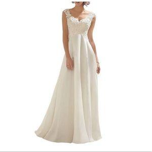 Wedding Dress Lace Double Sleeveless Evening
